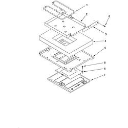 KERC507HWH3 Electric Range Hidden bake Parts diagram