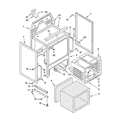 KERC507HWH3 Electric Range Oven chassis Parts diagram