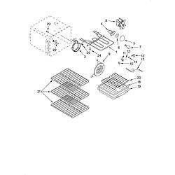 KERC507HWH3 Electric Range Oven Parts diagram