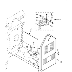 KERC507HWH3 Electric Range Rear chassis Parts diagram