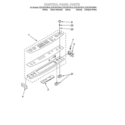 KESC307HBT4 Electric Slide-In Range Control panel Parts diagram