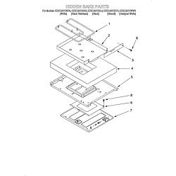 KESC307HBT4 Electric Slide-In Range Hidden bake/optional Parts diagram