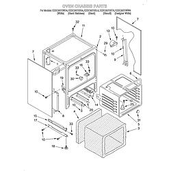 KESC307HBT4 Electric Slide-In Range Oven chassis Parts diagram
