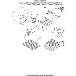 KESC307HBT4 Electric Slide-In Range Oven Parts diagram