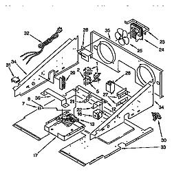 KGBS276XBLO Gas Range Door latch and control Parts diagram