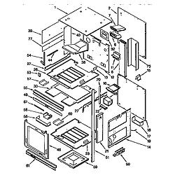 KGBS276XBLO Gas Range External oven Parts diagram