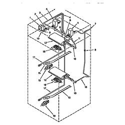 KGBS276XBLO Gas Range Manifold Parts diagram