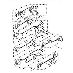 KGBS276XBLO Gas Range Wiring harness Parts diagram