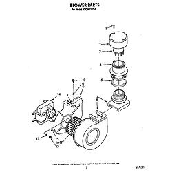 KUDM220T0 Dishwasher Blower Parts diagram