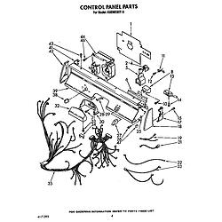 KUDM220T0 Dishwasher Control panel Parts diagram