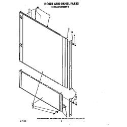 KUDM220T0 Dishwasher Door and panel Parts diagram