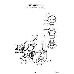 KUDM220T4 Dishwasher Blower Parts diagram