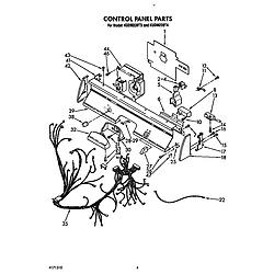 KUDM220T4 Dishwasher Control panel Parts diagram