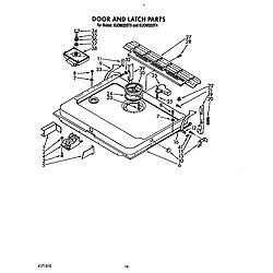 KUDM220T4 Dishwasher Door and latch Parts diagram
