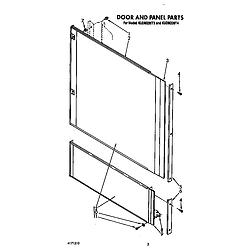 KUDM220T4 Dishwasher Door and panel Parts diagram