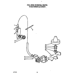 KUDM220T4 Dishwasher Fill and overfill Parts diagram
