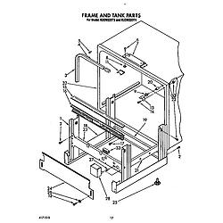 KUDM220T4 Dishwasher Frame and tank Parts diagram