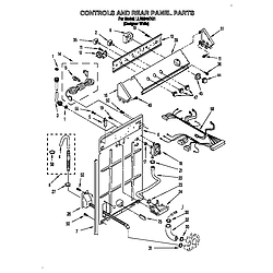 LLR9245BQ1 Direct-Drive Washer Controls and rear panel Parts diagram