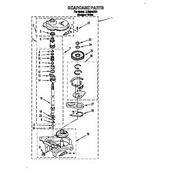 LLR9245BQ1 Direct-Drive Washer Gearcase Parts diagram