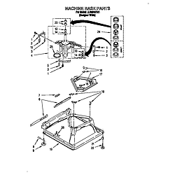 LLR9245BQ1 Direct-Drive Washer Machine base Parts diagram