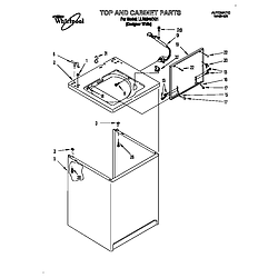 LLR9245BQ1 Direct-Drive Washer Top and cabinet Parts diagram