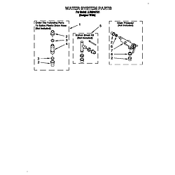 LLR9245BQ1 Direct-Drive Washer Water system Parts diagram