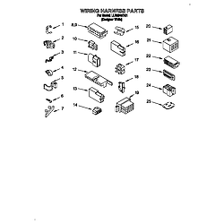 LLR9245BQ1 Direct-Drive Washer Wiring harness Parts diagram