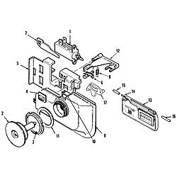 MDB6000AWA Dishwasher Rinse aid & soap dispenser Parts diagram