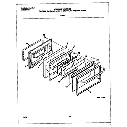 MGF354CGSC Gas Range Door Parts diagram