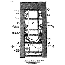 MSC229 Self-Cleaning Oven Wiring Parts diagram