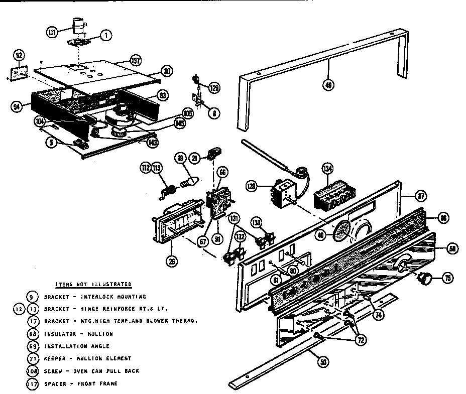 thermador gas cooktop parts. mtr217 combination oven self cleaning control section parts diagram thermador gas cooktop