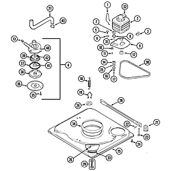 PAV2000AWW Washer Base Parts diagram