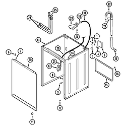 PAV2000AWW Washer Cabinet Parts diagram