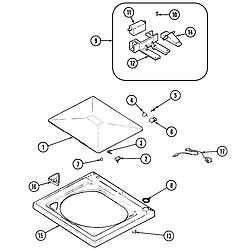 PAV2000AWW Washer Top Parts diagram
