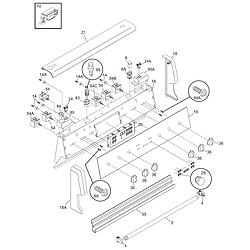 PFEF375CS2 Electric Range Backguard Parts diagram