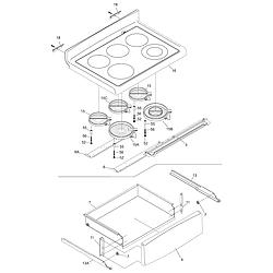 PFEF375CS2 Electric Range Top/drawer Parts diagram