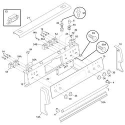 PGLEF385CS1 Electric Range Backguard Parts diagram