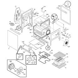 PGLEF385CS1 Electric Range Body Parts diagram