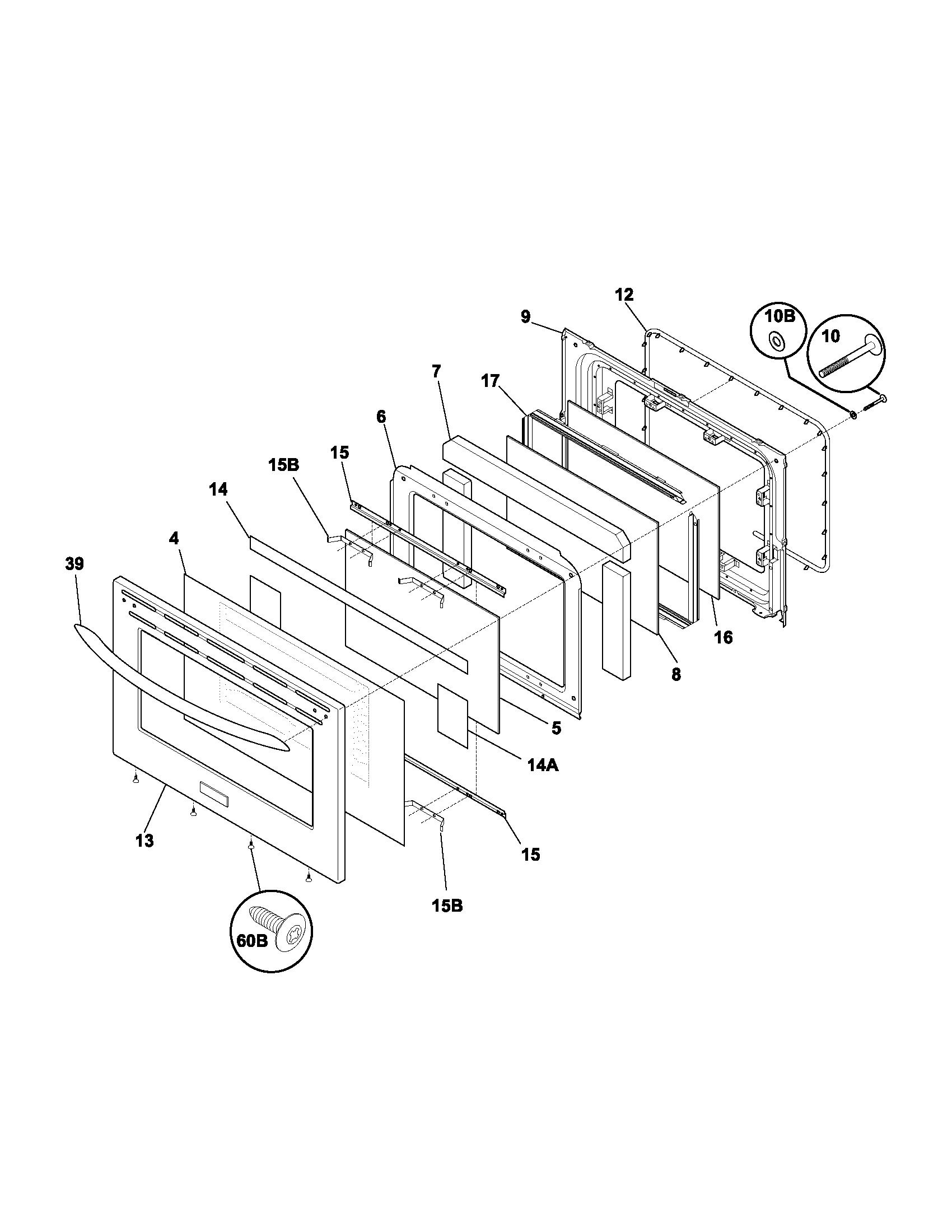 plef398ccc electric range door parts diagram wiring schematic parts diagram
