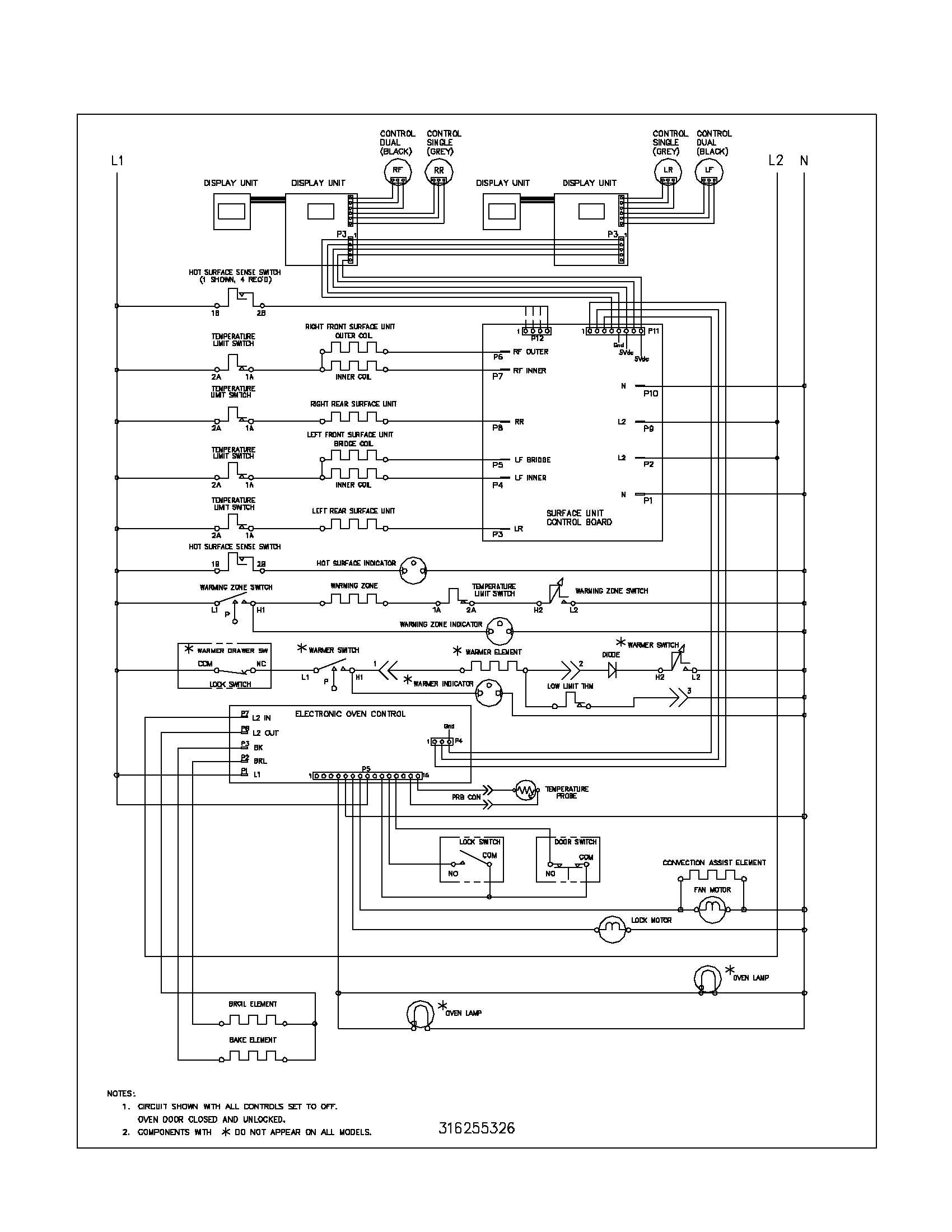frigidaire plef398ccc electric range timer stove clocks and Electric Light Switch plef398ccc electric range wiring schematic parts diagram