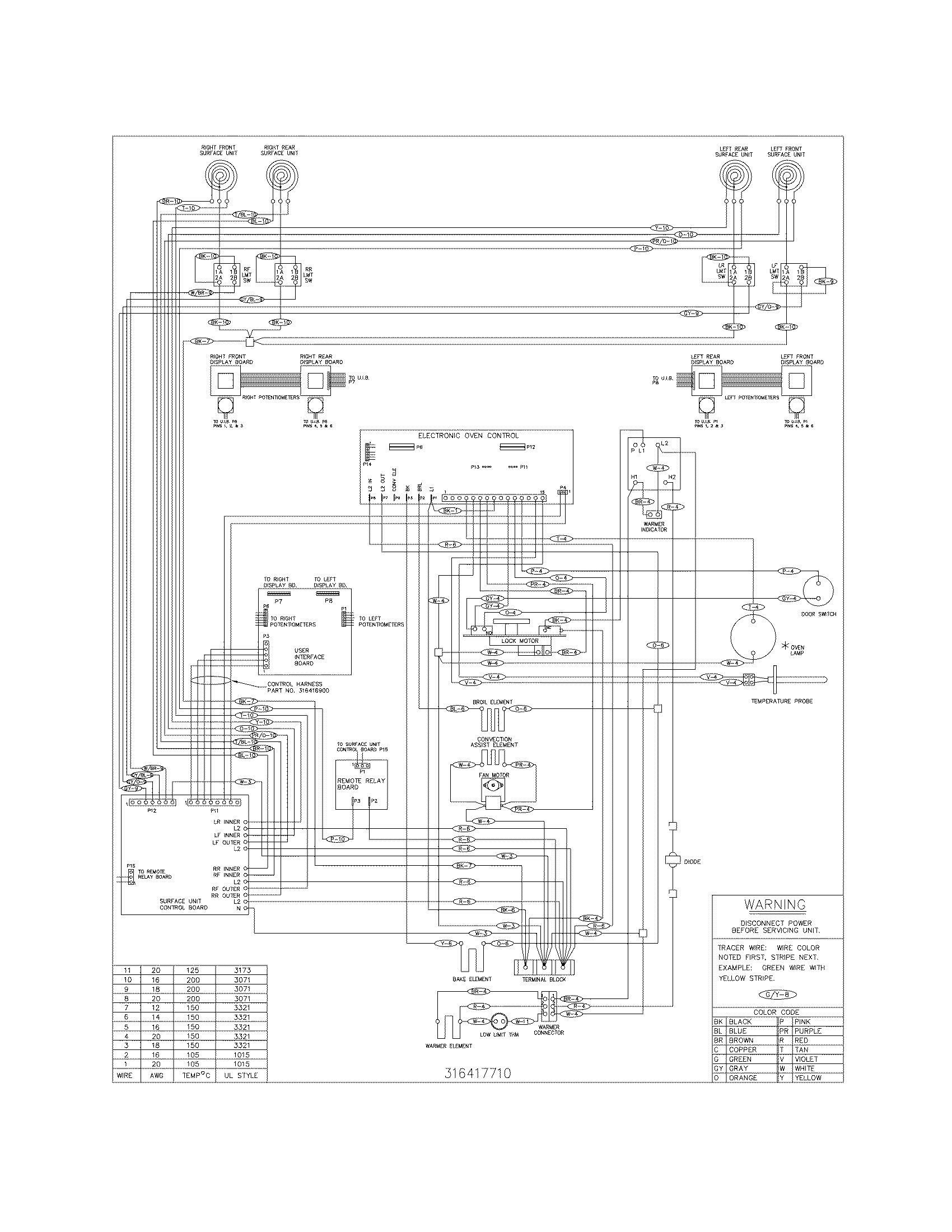 Frigidaire Electric Range Wiring Diagram