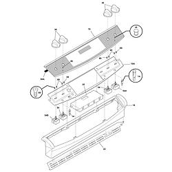 PLES389DCC Electric Range Backguard Parts diagram