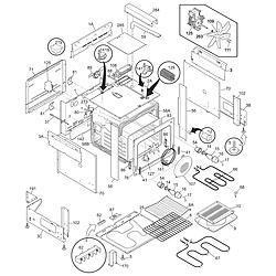 PLES389DCC Electric Range Body Parts diagram