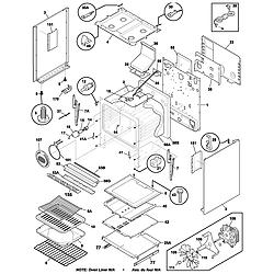 PLGF389CCB Gas Range Body Parts diagram