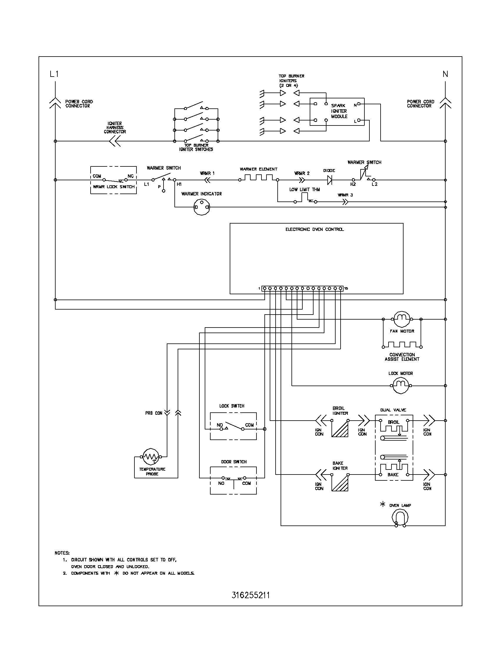 gas wiring diagram frigidaire plgf389ccb gas range timer - stove clocks and ... #12