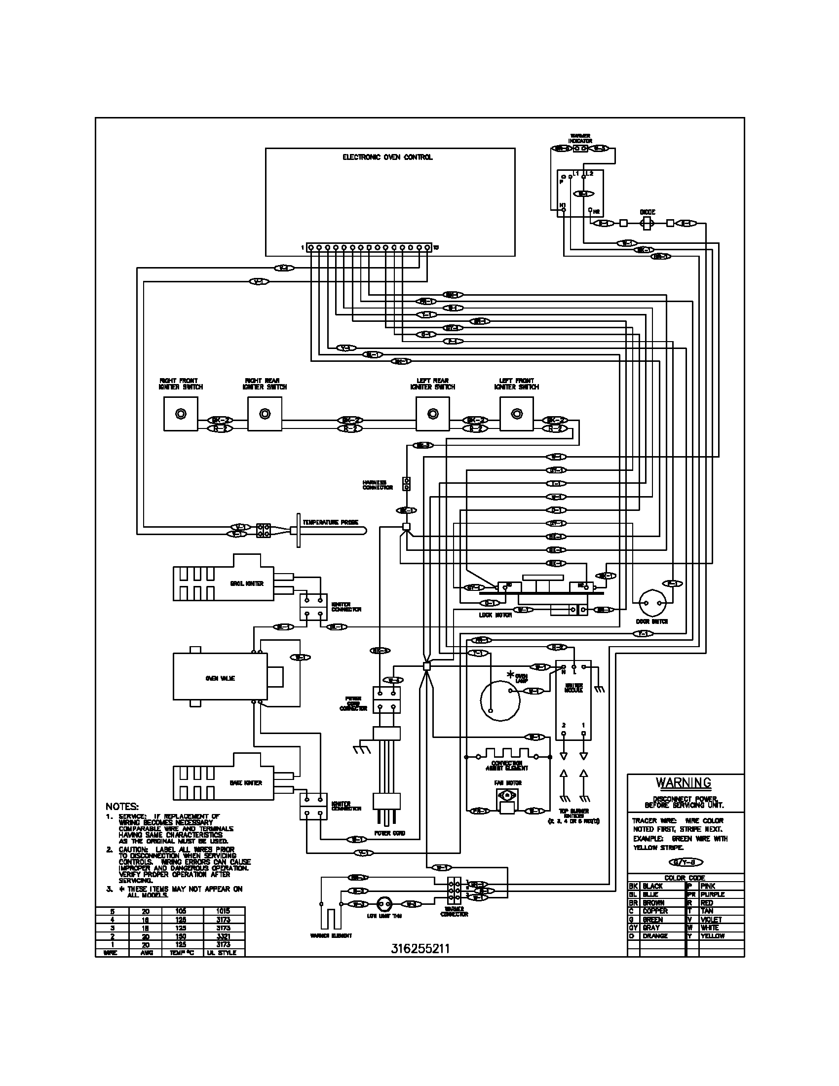 wiring diagram parts frigidaire plgf389ccc gas range timer stove clocks and appliance Frigidaire Refrigerator Troubleshooting at n-0.co