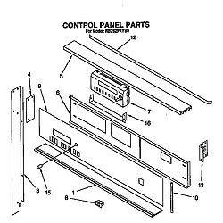 RB262PXYQ Electric Built-In Oven Control panel Parts diagram