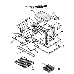 RB262PXYQ Electric Built-In Oven Internal oven Parts diagram