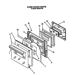 RB262PXYQ Electric Built-In Oven Oven door Parts diagram
