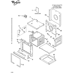 RBD245PDB14 Built In Oven - Electric Lower oven Parts diagram